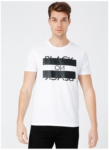Black On Black Black On Black Koln Beyaz Erkek T-Shirt Beyaz